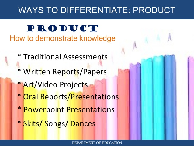 Product Differentiated Instruction All Students Can Successfully